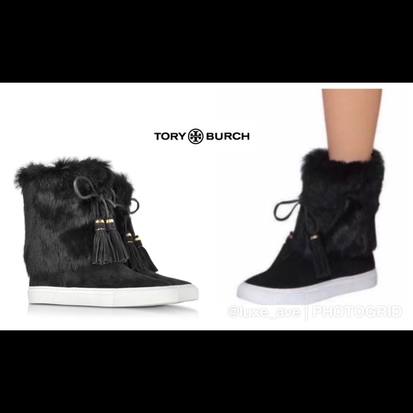 1529825578f5 Tory Burch Anjelica Suede Fur Boots  New  size 6